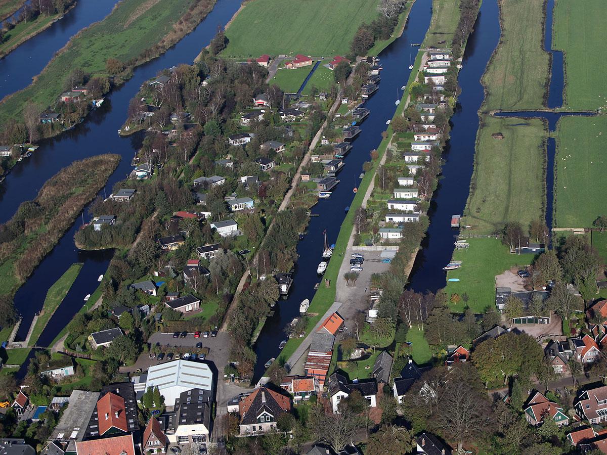 Luchtfoto van Recreatieterrein Ketelhof in Jisp